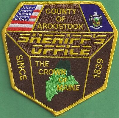 NEW Obsolete Aroostook County, Maine Sheriff's Department Uniform Patch