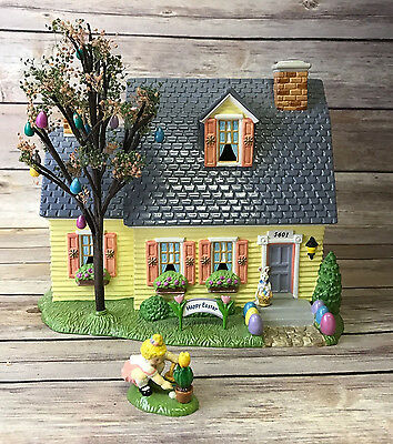 Dept. 56 Happy Easter House Original Snow Village House Tree 1 Accessory 2001