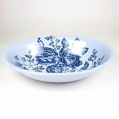 Johnson Brothers Elizabeth Round Serving Bowl Blue Made in England China