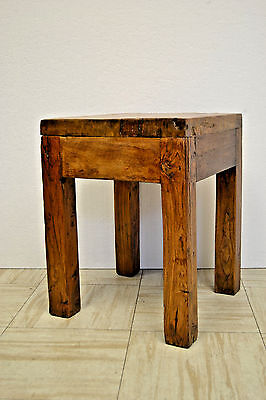 Asian Chinese Antique Wooden  Sitting Stool Side End Table Stand 73-04