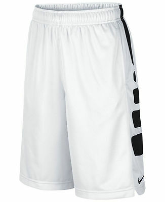 NWT Nike Boy Dri-Fit Elite Stripe Basketball Shorts Youth Size L XL White 546649