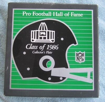 Pro Football Hall Of Fame Class Of 1986 Collector`s Plate W/ Box #405 Nfl