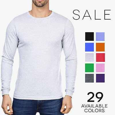 Gildan Ultra Cotton Long Sleeve T-Shirt Basic Plain Crew Tee G240