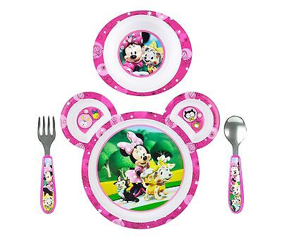 The First Years Disney Baby Minnie Mouse 4-Piece Feeding Set NEW