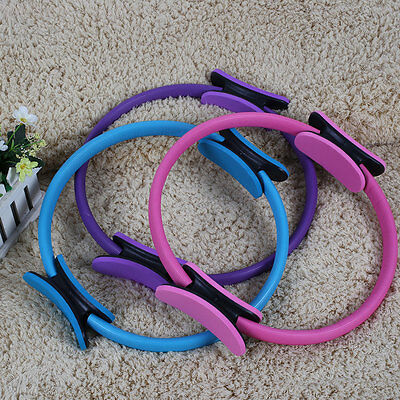 "14"" Magic Pilates Yoga Ring Exercise Grip Resistance Ring Fitness Circles"