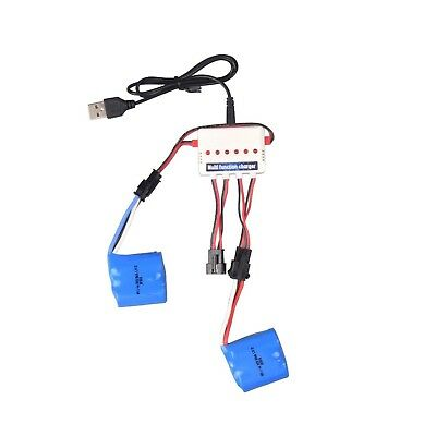 Youcute 2pcs 3.7v 600mah Official Battery and 1to3 Charger for Udi 001 Rc... NEW