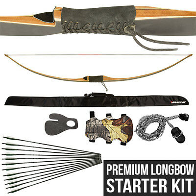 Premium Longbow Starter Archery Kit - Apex Hunting Heritage full bow package