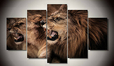 Huge Abstract Wall Decor Art Oil Painting on Canvas NO FRAME Roaring Lion 193
