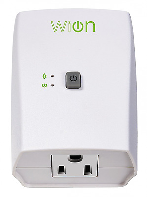 WiOn 50050 Indoor Wi-Fi Outlet, Wireless Switch, Programmable Timer