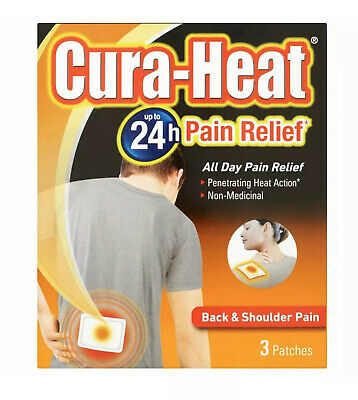 Cura-Heat Back/Shoulder/Neck Air Activated - Pack of 3 Patches.