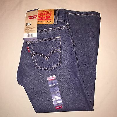 Boys size 8 Levi's 505 Straight Fit Jeans Nwt