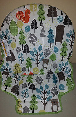 NEW Graco Simple Switch High Chair Bear Trail White Green Seat Pad Cushion Cover
