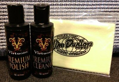 Virtuoso Guitar Polish and Cleaner Pack Instrument with Free Dunlop Polish Cloth