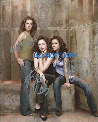 Charmed - Hand Signed Photo With Coa - The  3 Main Cast Autographed Photo