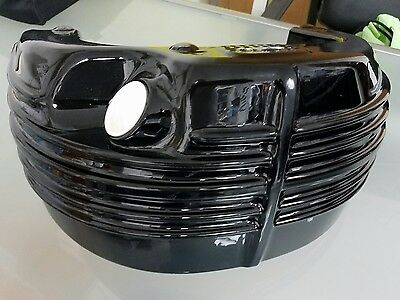 Stock Harley Twin Cam Softail Rocker Gloss Black Oil Tank For 2008-Up Fxcw