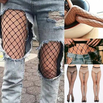 Women Black Mesh Fishnet Net Pattern Stockings Hoisery Pantyhose Tights Lingerie