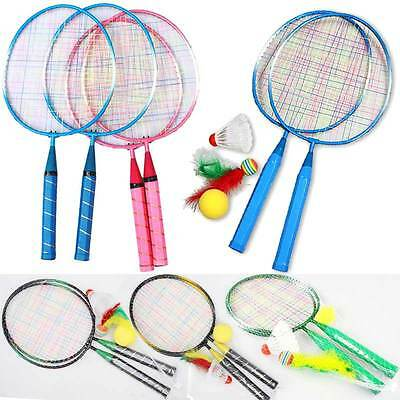 1 Pair Badminton Rackets Sports Cartoon Suit Toy for Youth Kids Children New