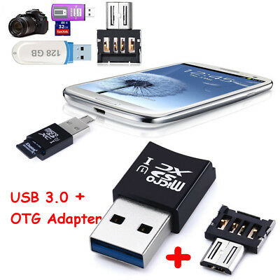 Mini 5 Gbps card reader USB 3.0 OTG + Micro SD / SDXC-TF-Kartenleser Adapter
