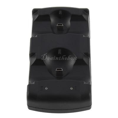2 in 1 Dual Charging Game Station Charger Stand Dock Holder Mount for PS3 RW
