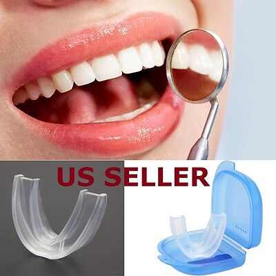 Stop Snoring MouthGuard Mouthpiece Anti Snore Apnea Aid Sleep Bruxism Grind New