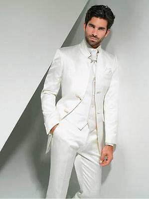 Custom New Best Man Groomsmen Business Man Suit 3 Pieces Wedding Groom Tuxedos