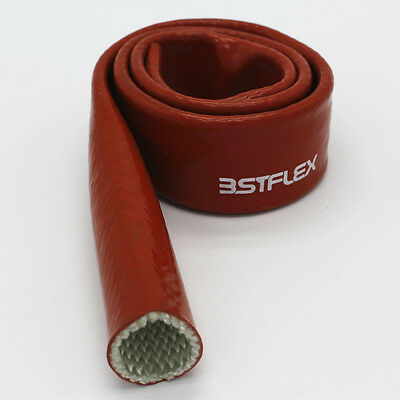Silicone Coated Fibreglass Fire Sleeving Protective Heat Shield Sleeve, Red new