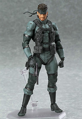 Anime Solid Snake Metal Gear Solid 2 PVC Action Figure Figma 243  No Box