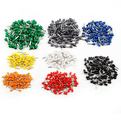 8color 800pcs Bootlace Ferrules Crimp Connector Insulated Cord Pin End Terminal