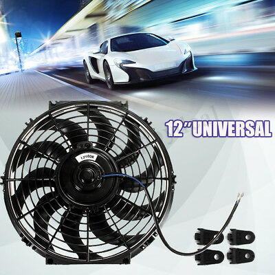 12'' 80W 12V Car Electric Radiator Intercooler Cooling Fan Push Pull Slimline UK