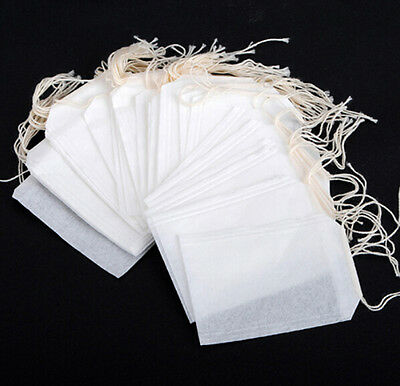 2017 100Pcs Healthy String Heat Seal Filter Paper Herb Loose TeaBags 5.5 x 6 cm