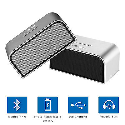 Bluetooth Speaker Wireless Stereo Rechargeable HIFI Bass TF MP3 Player For MP3/4