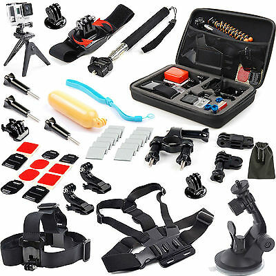 52 in 1for GoPro Hero 4 3+ 2 1 Session Hero+ LCD Travel Storage Accessories Set