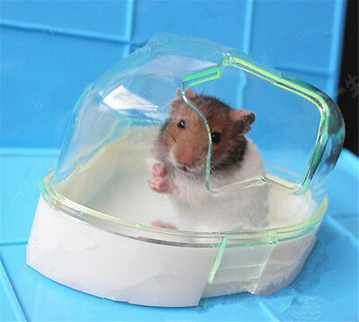 1X Pet Hamster Bathroom Bath Sand Room Bathtub Sauna Hamster Toy Toilet Plastic