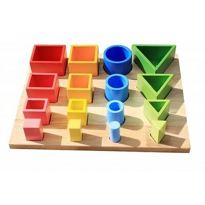 NEW!!!  Montessori Inspired 3D sorting & nesting board- Educational toy by QToys