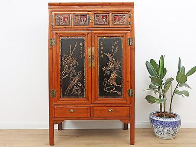 Wedding Cabinet Wardrobe File Cabinet Chinese Solid Wood China Asia Antique Y193