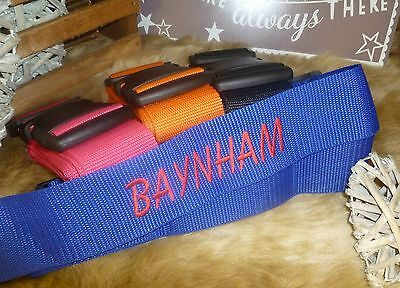 New Personalised Embroidered Luggage Suitcase Strap with Lock