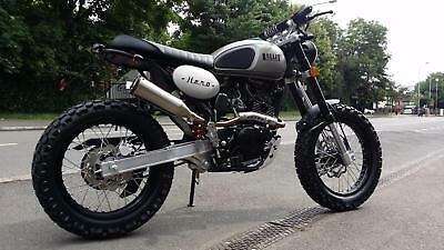 Bullit Motorcycles Hero 125cc old school retro scrambler brand new 2017 model