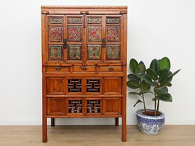 Wedding Cabinet Wardrobe File Cabinet Chinese Solid Wood China Asia Antique Y001