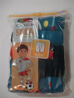 Fruit of the Loom NEW Boys 5 Pack Boxer Briefs Size 4T 5T