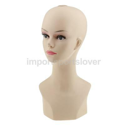 "20.8"" PVC Mannequin Manikin Head Bust for Wig Hat Necklace Jewelry Display"