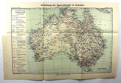 1912 MAP-DISTRIBUTION & TYPE  WOOMERA AUSTRALIA-Aborigine,Australian History