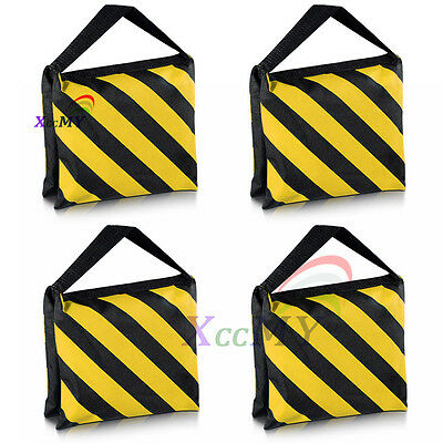 NEW 4x Photography Studio Heavy Duty Sandbags Sand Bag for Stands Tripods YELLOW