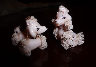 Vintage Pink And Gold  Spaghetti Poodles Japan Nice Eyes Tiny