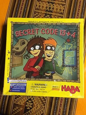 Mathematics Counting HABA Secret Code 13+4 A Tricky Arithmetic Game (Made in