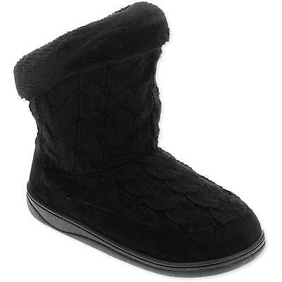 Youth Girls' Black Slip-on Sweater Slipper Boots/Shoes: L-XL