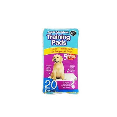 Super Absorbent Premium House Puppies & Dogs Training Pads 60 x 45cm Pack of 20