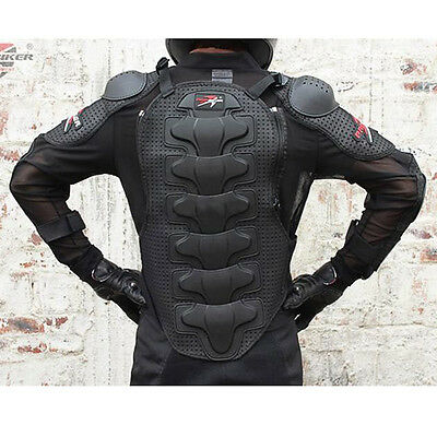 NEW Black CE Approved Full Body Armor Motorcycle Jacket Spine Chest Protection