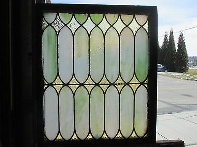 ~ Antique American Stained Glass Window 28 X 32 Architectural Salvage ~