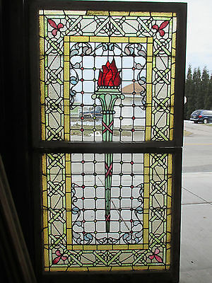 Extraordinary Stained Glass Windows ~ Set Top Bottom ~ Architectural Salvage