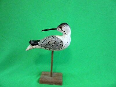 North Carolina Estate Item Carved Shore Bird Snipe Hand Painted